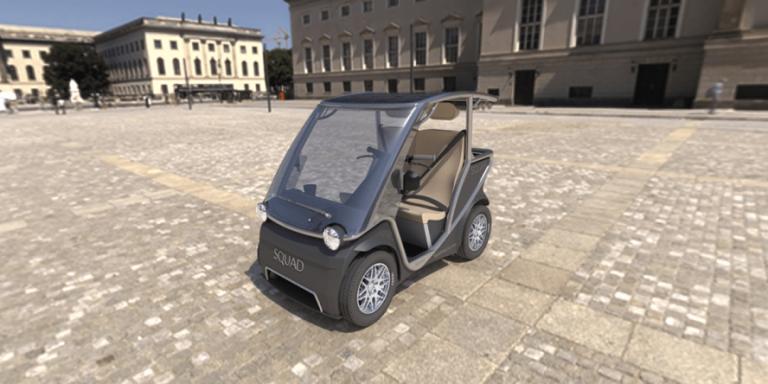 Squad Mobility, il tetto del veicolo elettrico olandese è un pannello solare