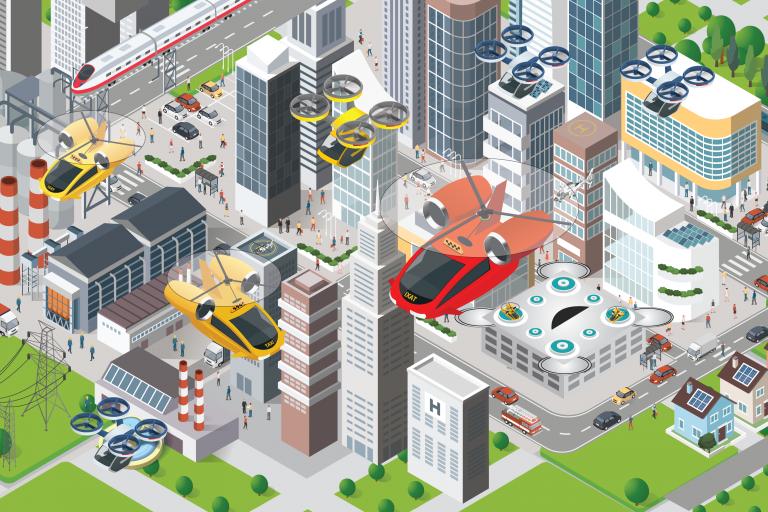 Mobilità: annunciato al Ces accordo tra Huyndai e Uber per taxi aerei elettrici