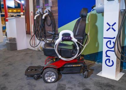 Enel X presenta dispositivo per ricaricare sedie a ruote elettriche