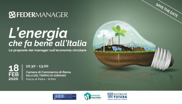 A Roma evento Federmanager su energia e economia circolare