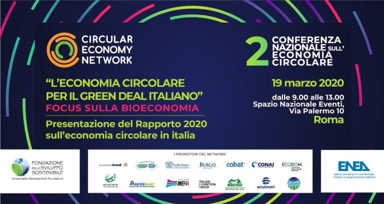 """A Roma la presentazione del """"Rapporto 2020 sull'economia circolare in Italia"""""""