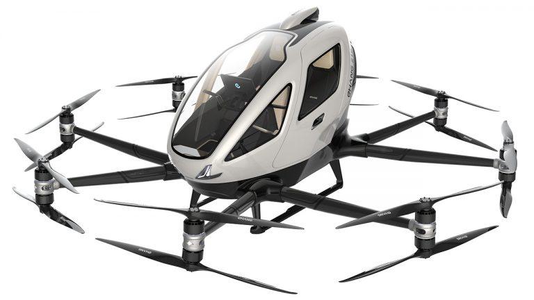 Il drone elettrico di eHang avvia i test in Norvegia
