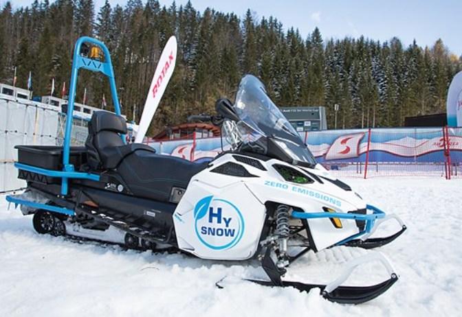 Motoslitta a idrogeno per emissioni zero ideata da Fronius