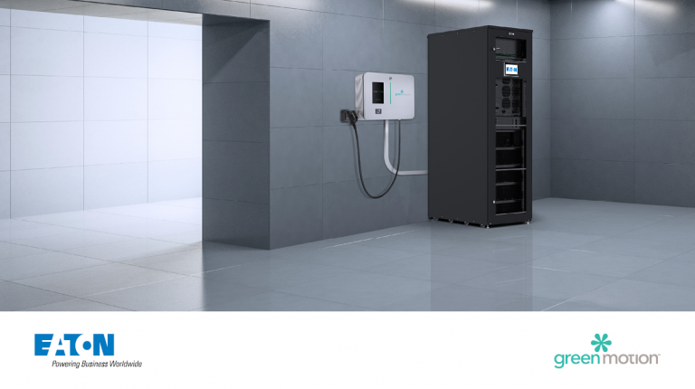 La soluzione di Eaton e Green Motion integra ricarica con accumulo di energia