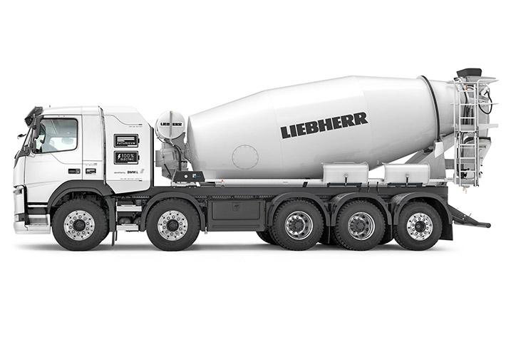 Liebherr annuncia la prima betoniera totalmente elettrica