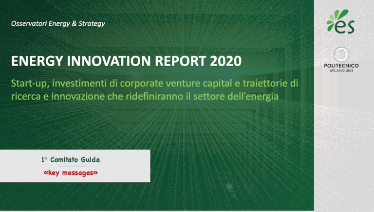 Energy Innovation Report, a settembre i risultati del gruppo di ricerca del PoliMi