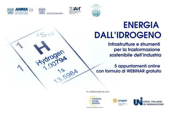 H2IT, ciclo di webinar su potenzialità dell'idrogeno