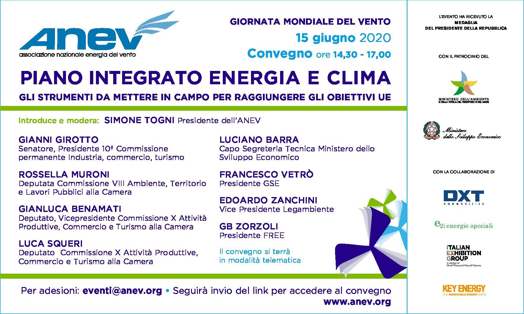 Il convegno dell'ANEV per la Giornata Mondiale del Vento (15 giugno)