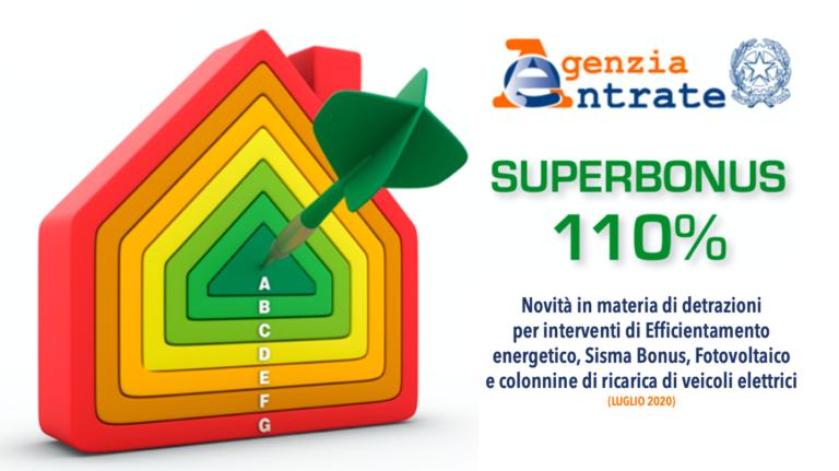 Superbonus 110%, la Guida dell'Agenzia delle Entrate
