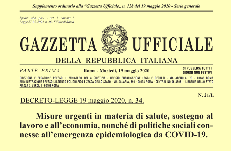 Superbonus 110% in Gazzetta Ufficiale. Attesi i decreti attuativi dell'Agenzia delle Entrate