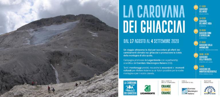 Clima, campagna di Legambiente per monitorare i ghiacciai che crollano