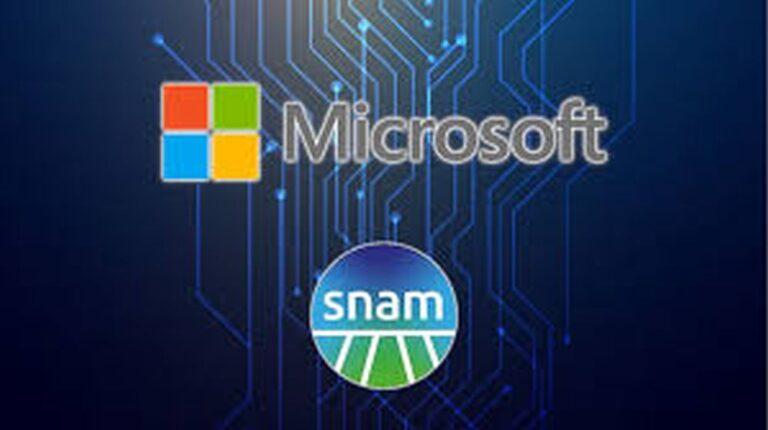 Energia, Snam e Microsoft insieme per primo progetto congiunto su cloud e IoT