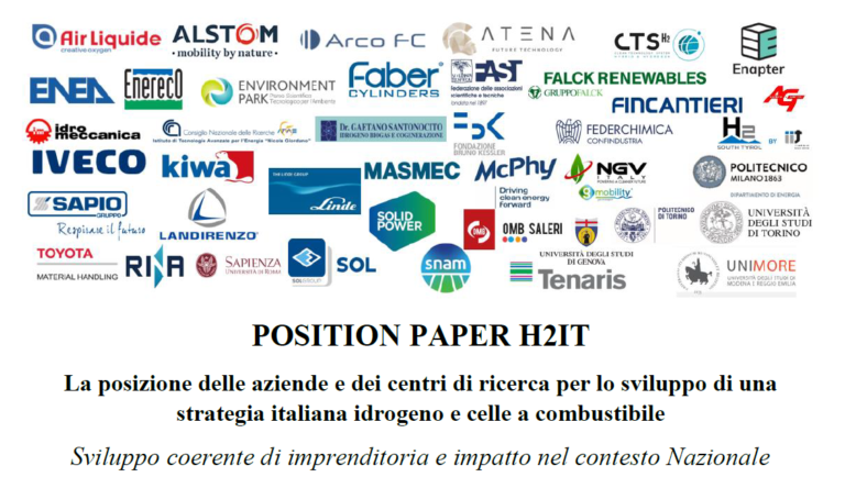 Il Position Paper di H2IT su una strategia italiana per l'idrogeno