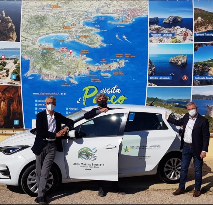 Parco Porto Conte (Alghero), consegnato il primo veicolo elettrico