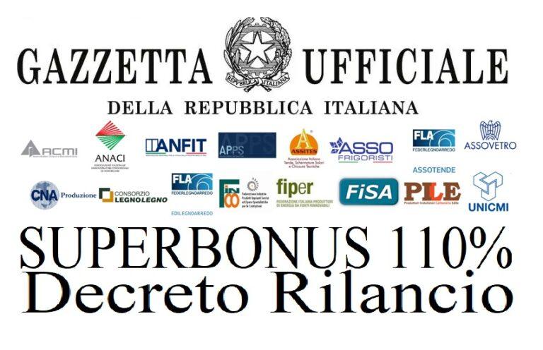 Superbonus 110%, i decreti del Mise pubblicati in Gazzetta Ufficiale
