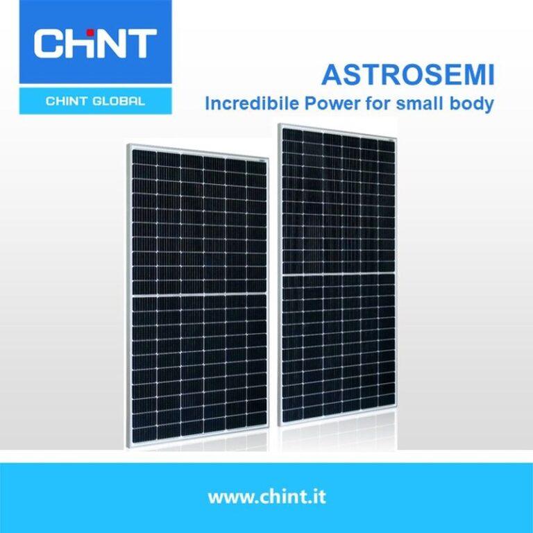 Chint, nuovi moduli FV con potenze da 370 a 595 Wp