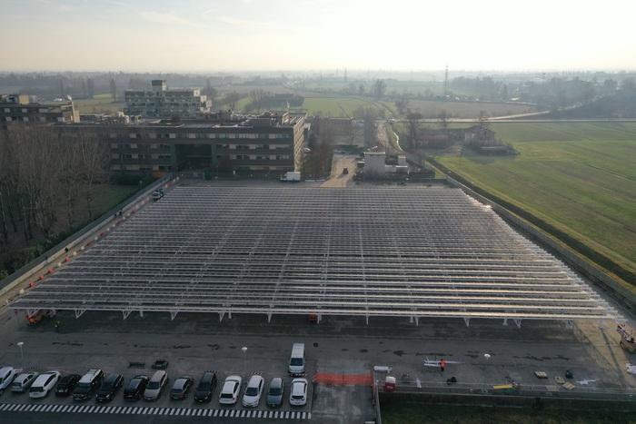 Bper Banca, impianto FV per il parcheggio dei dipendenti