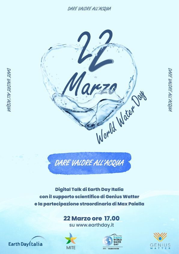 Genius Watter celebra la Giornata Mondiale dell'Acqua con Earth Day Italia