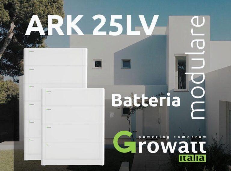 Growatt lancia la batteria ARK 25LV per lo storage