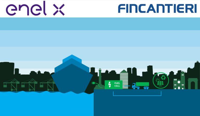 Enel X e Fincantieri impegnate nella transizione energetica del trasporto marittimo