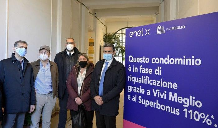 Enel X, al via a Roma cantiere che sfrutta il Superbonus 110%