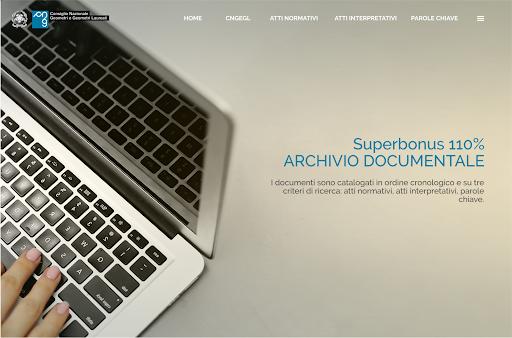 Superbonus 110%, online nuovo portale Consiglio Nazionale Geometri