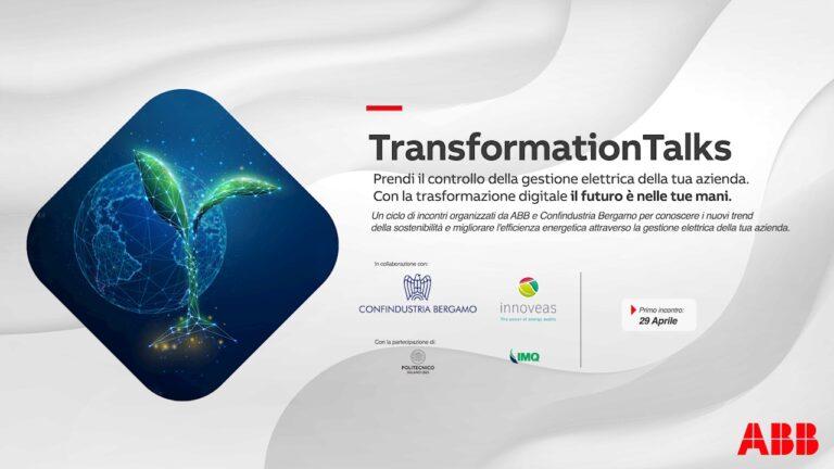 Efficienza energetica,  ABB e Confindustria Bergamo lanciano i Transformation Talks