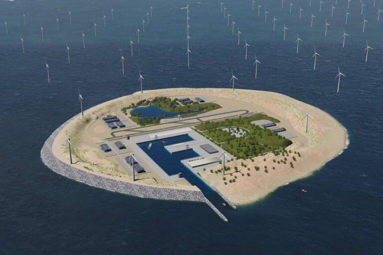 Eolico offshore, al largo della penisola Jutland nasce isola artificiale