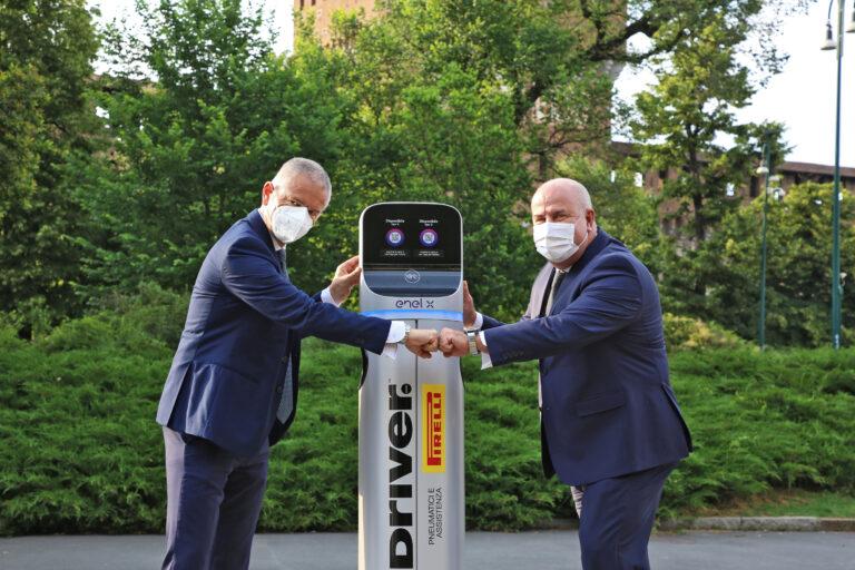 Enel X e Pirelli portano le infrastrutture di ricarica per le auto elettriche nei punti vendita Driver