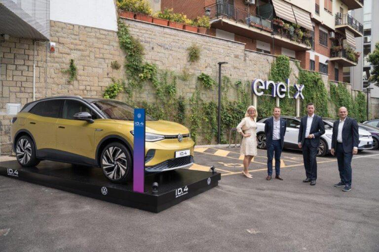 Enel X e Volkswagen, accordo per aumentare la mobilità elettrica in Italia