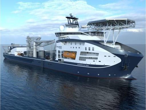 """Prysmian prende in consegna la super nave posacavi """"da Vinci"""""""